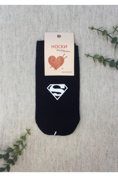 """Носки женские Чулок с рисунком """"с суперменом"""""""