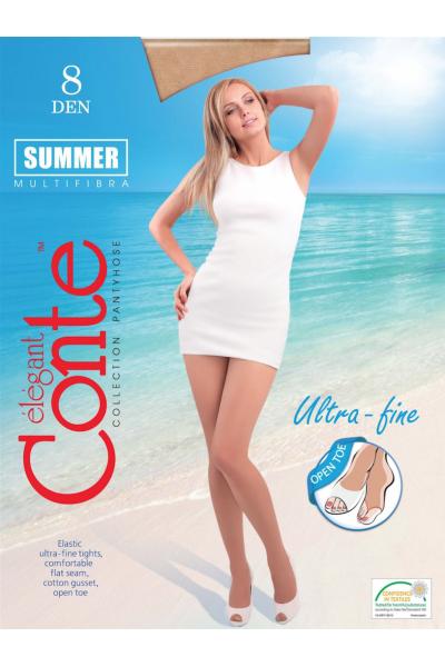 Колготки классические Conte Summer open toe 8