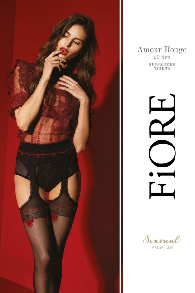 Колготки фантазийные Fiore Amour Rouge 20