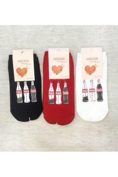 """Носки женские Чулок с рисунком """"Кока-кола"""""""