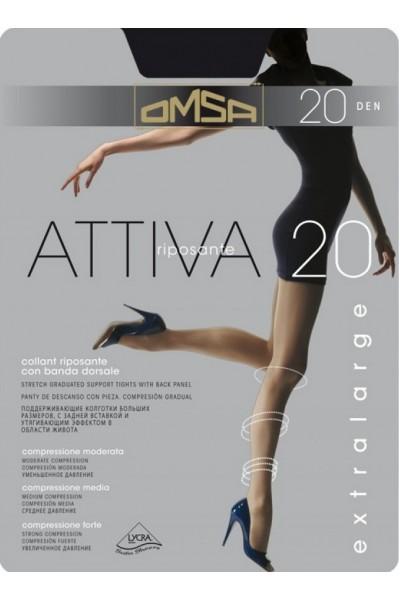 Колготки классические Omsa Attiva 20 XXL