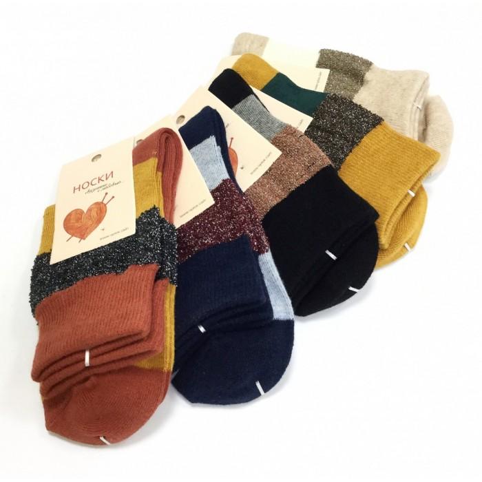 Носки женские Чулок цветные с люрексом