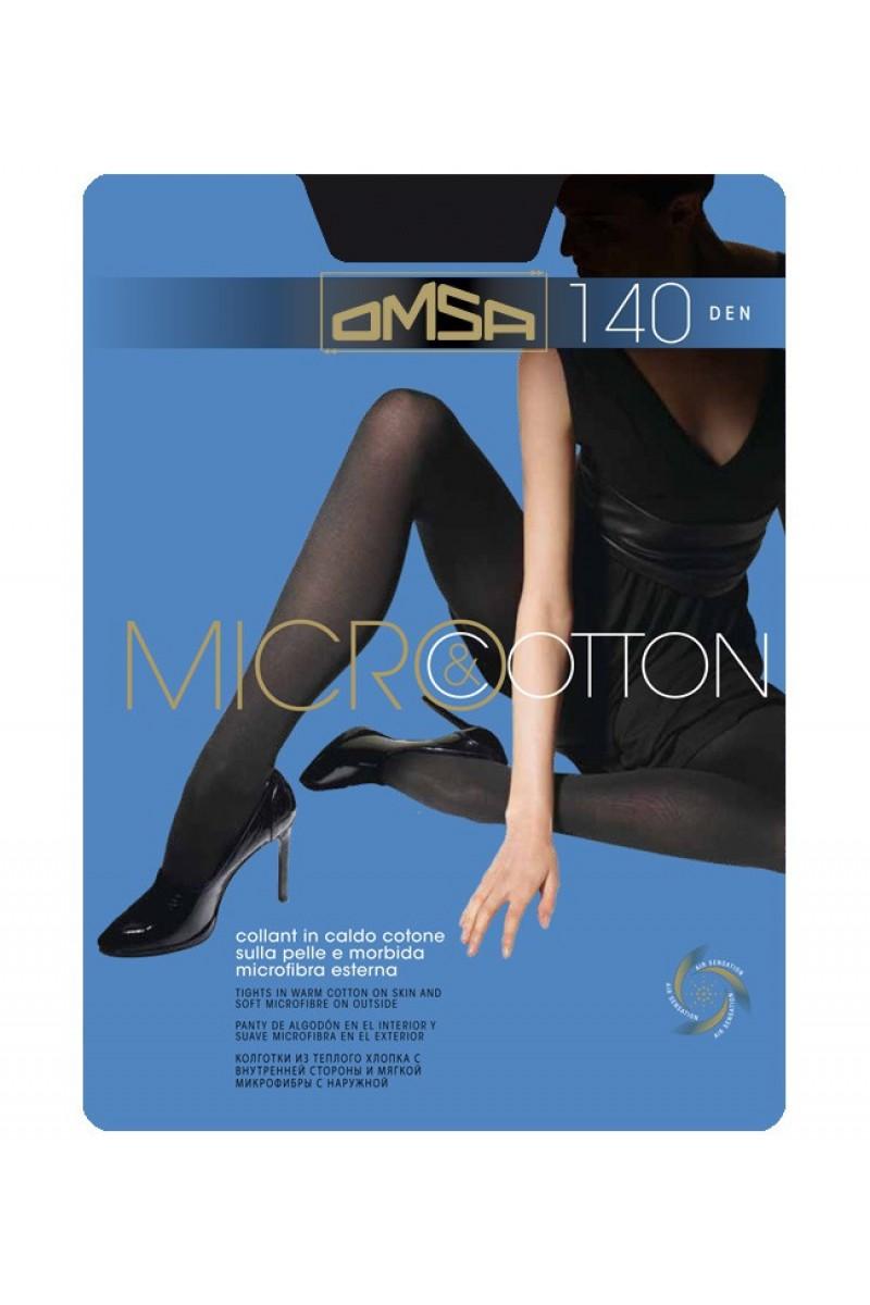 Колготки классические Omsa Micro&Cotton 140 XL