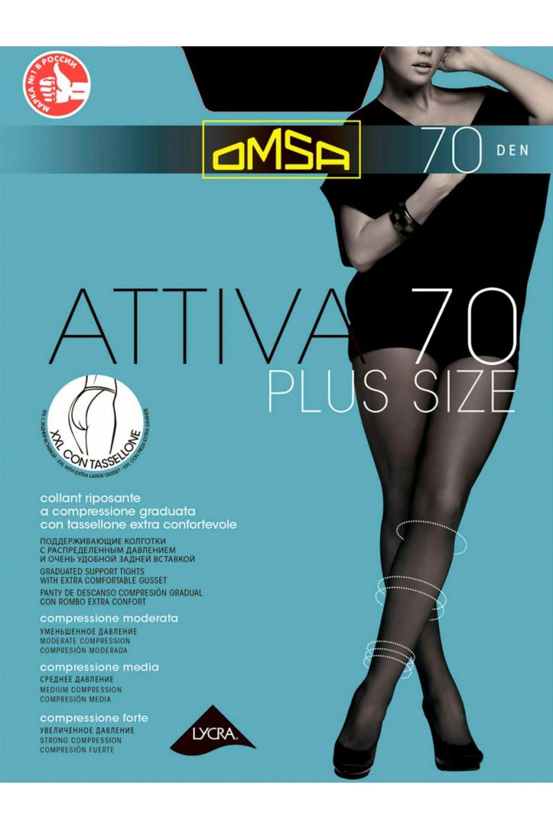 Колготки классические Omsa Attiva 70 XXL Plus Size