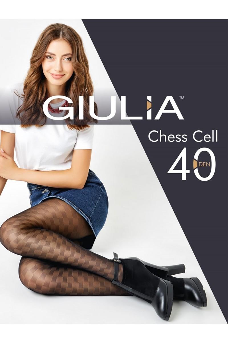 Колготки фантазийные Giulia Chess Cell 01