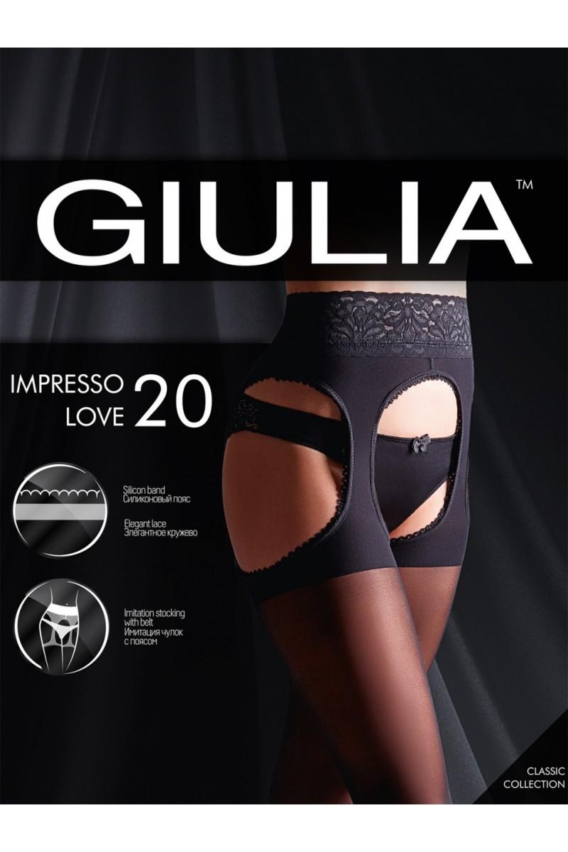 Колготки фантазийные Giulia Impresso Love 20