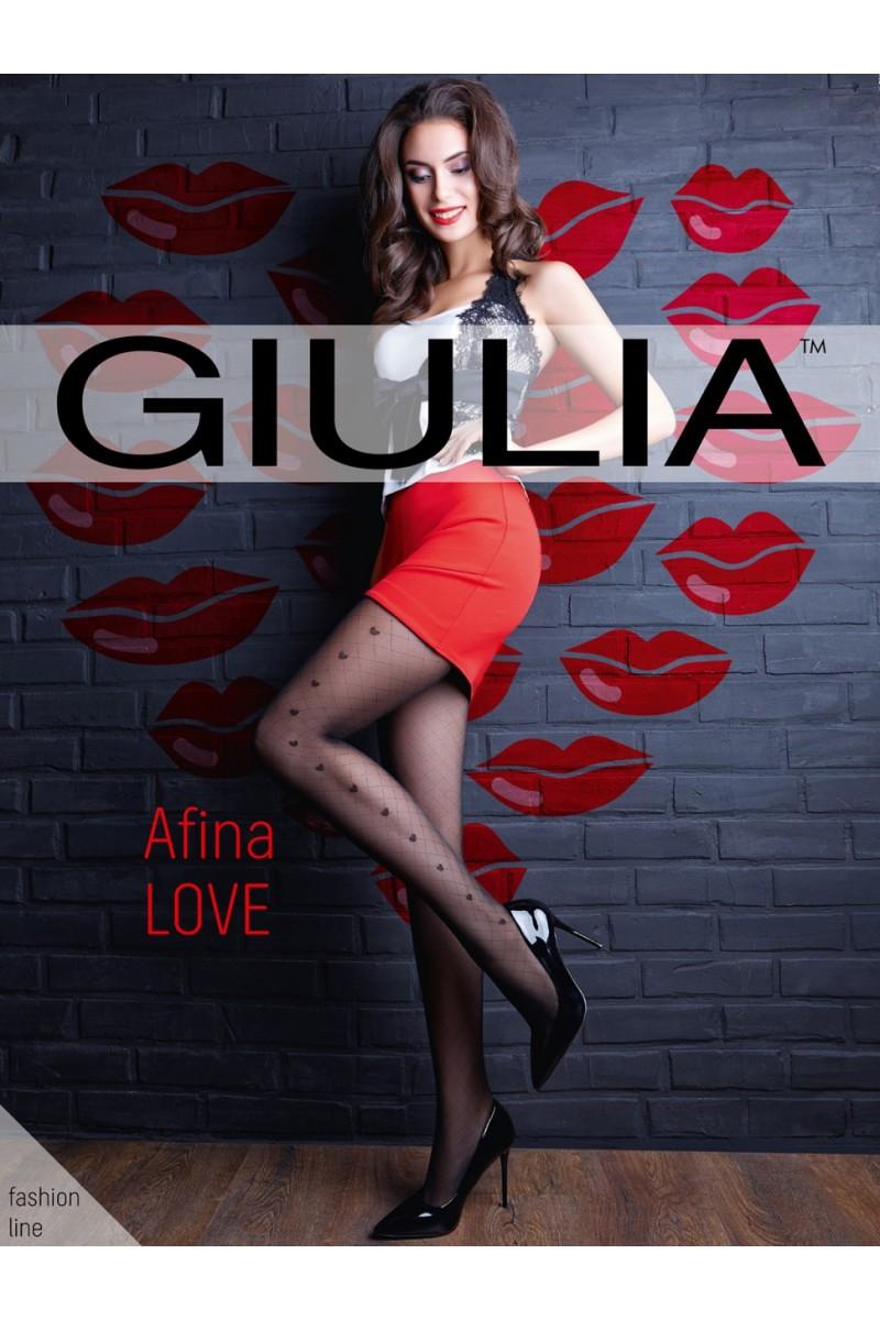 Колготки фантазийные Giulia Afina Love 01