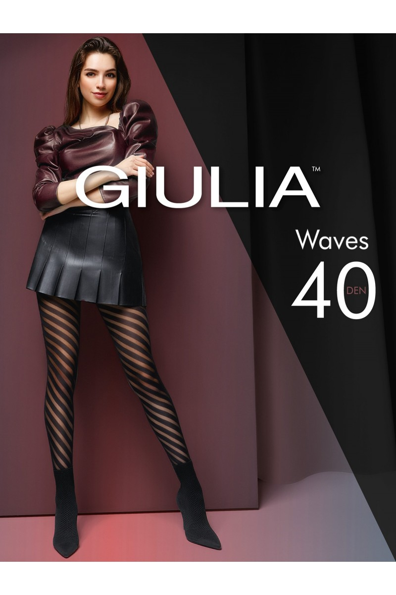 Колготки фантазийные Giulia Waves 01