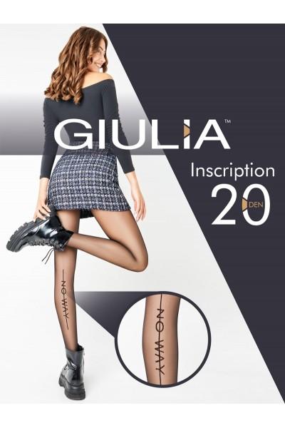 Колготки фантазийные Giulia Inscription 01
