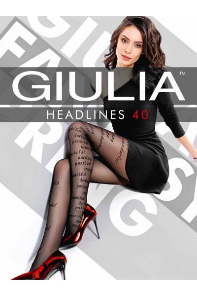 Колготки фантазийные Giulia Headlines 01