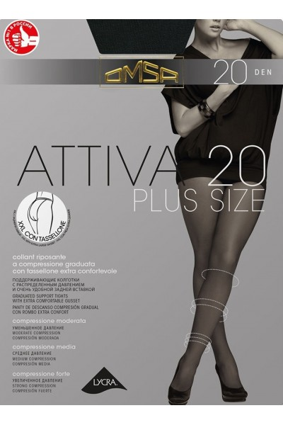 Колготки классические Omsa Attiva 20 XXL Plus Size