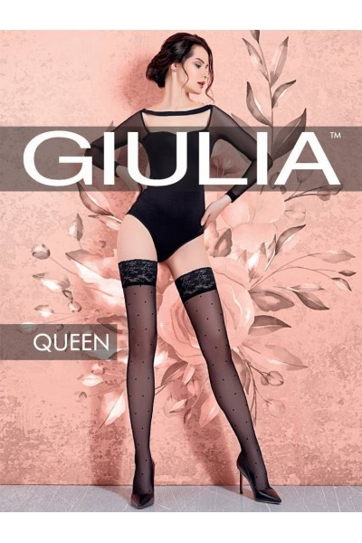 Чулки фантазийные Giulia Queen 01