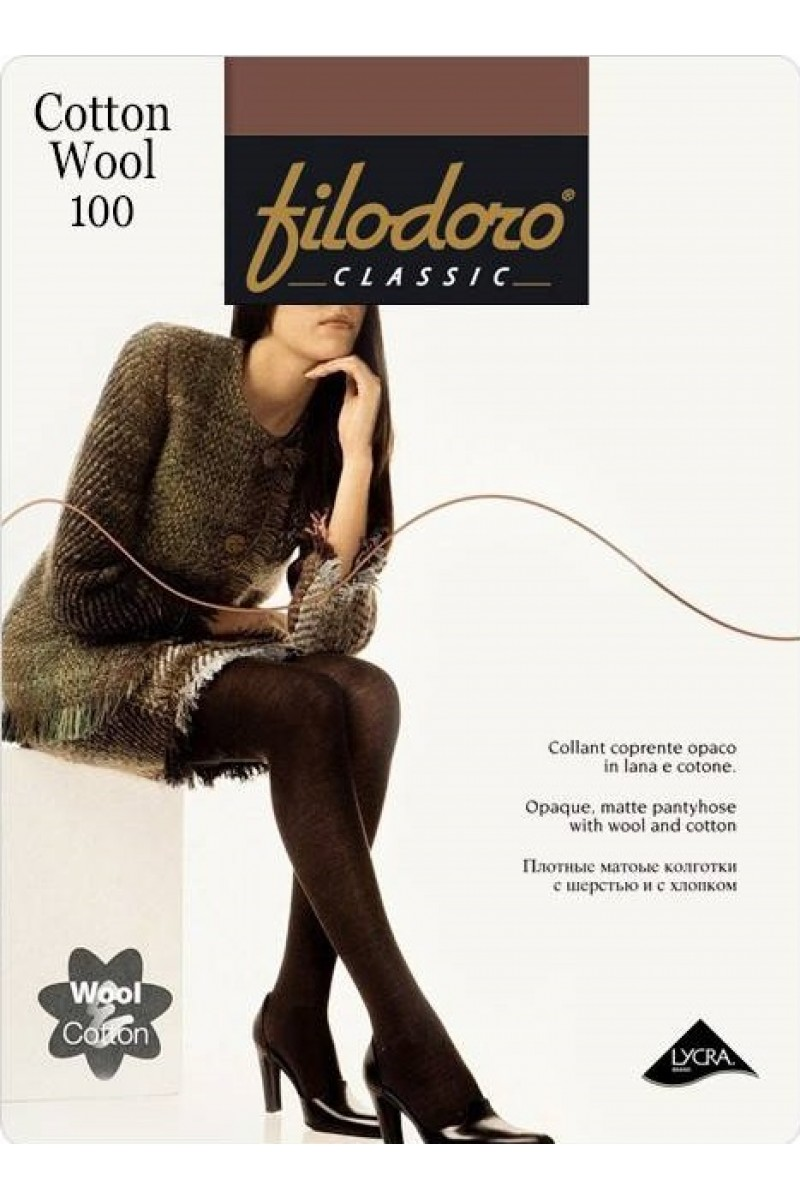 Колготки классические Filodoro Cotton Wool 100