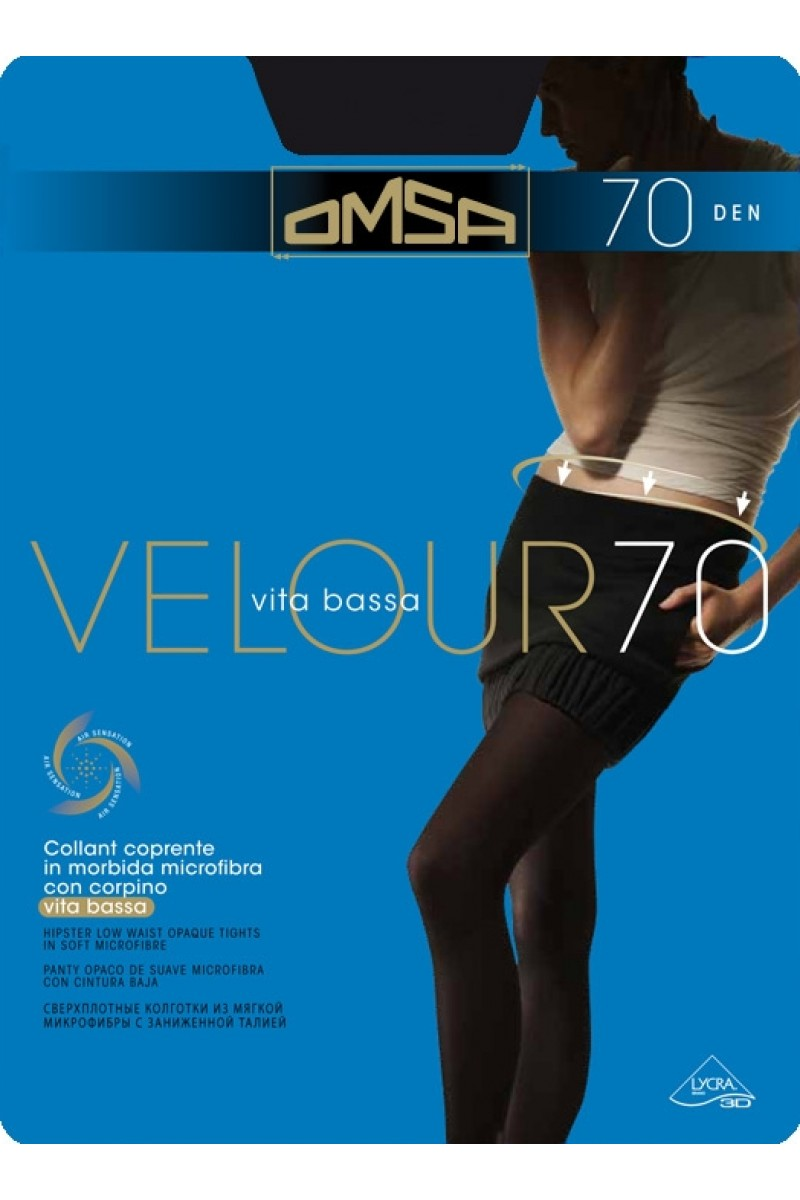 Колготки с заниженной талией Omsa Velour 70 VB